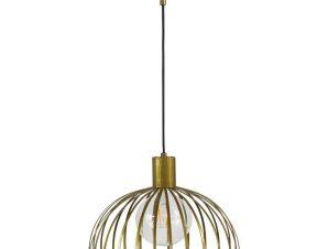Φωτιστικό Οροφής Paris/33 1/L Φ33 Η100 Χ Φ33cm Gold 34-0241 Heronia