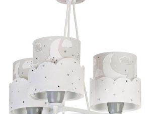 Φωτιστικό Οροφής Παιδικό Moon 61237 E Grey Ango