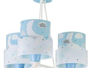 Φωτιστικό Οροφής Παιδικό Moon 61237 T Blue Ango