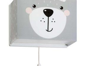 Φωτιστικό Τοίχου – Απλίκα Little Teddy 64578 Grey Ango