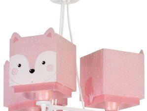 Φωτιστικό Οροφής Παιδικό Little Fox 64587 Pink Ango