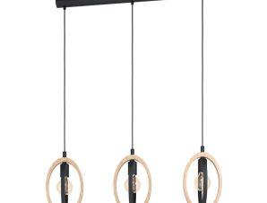 Φωτιστικό Οροφής-Ράγα 'Basildon' 43462 Black-Brown Eglo