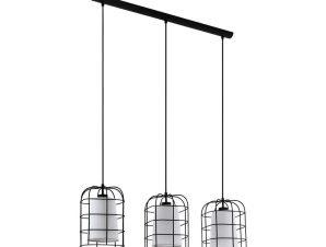 Φωτιστικό Οροφής-Ράγα 'Bittams' 43355 Black-White Eglo