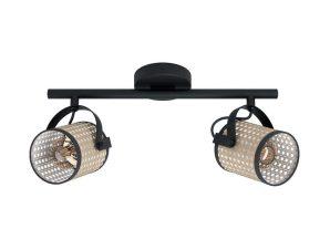 Φωτιστικό Οροφής-Σποτ LS2 'Ruscomb' 43494 Natural-Black Eglo