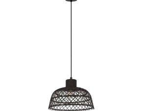 Φωτιστικό Οροφής Ø370 'Ausnby' 43288 Natural-Black Eglo
