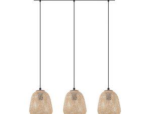 Φωτιστικό Οροφής-Ράγα 'Dembleby' 43262 Natural-Black Eglo