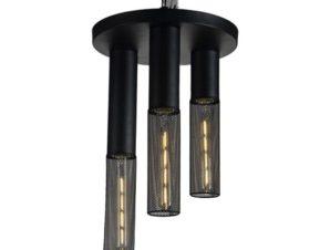 Φωτιστικό Οροφής – Πλαφονιέρα OD603C30BK 3ΧΕ27 D30XH45 Black Aca Decor