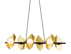 Φωτιστικό Οροφής – Ράγα HL42596P100BG 6ΧG9 100Χ26ΧΗ120 Gold-Black Aca Decor
