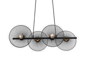 Φωτιστικό Οροφής – Ράγα HL45844P71B 4ΧΕ27 71Χ35ΧΗ119 Black Aca Decor