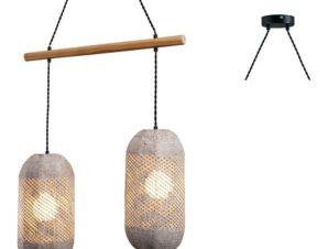 Φωτιστικό Οροφής – Ράγα OD762P60RW 2ΧΕ27 60X20XH120 Natural Aca Decor
