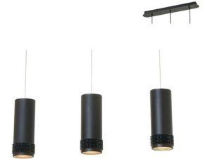 Φωτιστικό Οροφής – Ράγα YL11P318BK 3XGU10 6,5X60XH122 Black Aca Decor