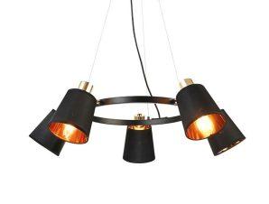 Φωτιστικό Οροφής EG215P73BK 5ΧΕ14 D73XH100 Black Aca Decor