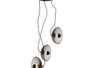 Φωτιστικό Οροφής HL45843P40B 3ΧΕ27 D31ΧΗ115 Black Aca Decor