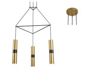 Φωτιστικό Οροφής HM853P56BR 3XGU10 56X49XH150 Brass Aca Decor