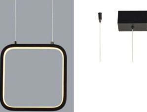 Φωτιστικό Οροφής Led V30LEDP22BK 9W 3000K 870lm 22X11XH129 Black Aca Decor