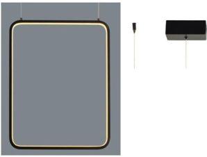 Φωτιστικό Οροφής Led V30LEDP36BK 19W 3000K 1820lm 36X14XH152 Black Aca Decor