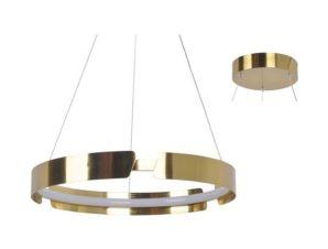 Φωτιστικό Οροφής Led ZM18LEDP40AB 23W 3000K 1840lm D40XH150 Brass Aca Decor