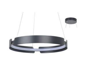 Φωτιστικό Οροφής Led ZM18LEDP60BK 34W 3000K 2720lm D60XH150 Black Aca Decor