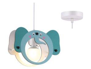 Φωτιστικό Οροφής Παιδικό ZM431P27 1ΧΕ27 Ελαφαντάκι 27X10XH100 Blue Aca Decor