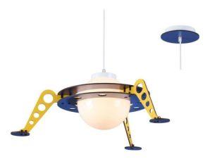 Φωτιστικό Οροφής Παιδικό ZM681P61 1ΧΕ27 Διαστημόπλοιο D61XH100 Yellow-Blue Aca Decor