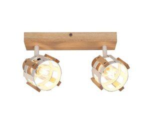 Φωτιστικό Οροφής Σποτ GN46S2WW 2ΧΕ14 9X32X14 Natural-White Aca Decor