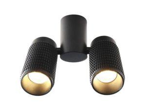 Φωτιστικό Οροφής Σποτ YL10C217BK 2ΧGU10 6,5X20X26 Black Aca Decor