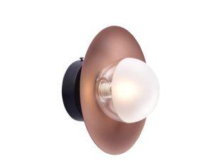 Φωτιστικό Τοίχου – Απλίκα HL4301W20BC 1ΧG9 D20X15 Copper-Black Aca Decor