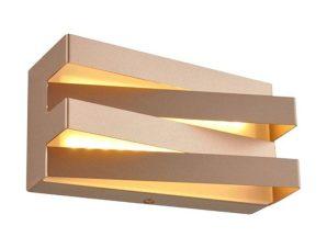 Φωτιστικό Τοίχου – Απλίκα Led V80LEDW20DG 12W 3000K 960lm 20X11X9 Dark Gold Aca Decor