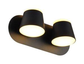 Φωτιστικό Τοίχου – Απλίκα Led V83LEDW27BK 16W 3000K 1280lm 27X12X11 Black Aca Decor