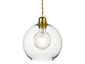 Φωτιστικό Οροφής Κρεμαστό V3643320CL 1ΧΕ27 Φ20ΧΗ120CM Pythia Clear Aca Decor