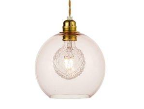 Φωτιστικό Οροφής Κρεμαστό V3643320LP 1ΧΕ27 Φ20ΧΗ120CM Pythia Pink Aca Decor