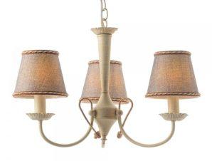 Φωτιστικό Οροφής Κρεμαστό DL8313 3XE14 Φ54cm Avignon White Patine – Grey Aca Decor