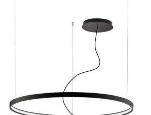 Φωτιστικό Οροφής Led Verdi 4224400 D1200 Black Viokef