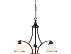 Φωτιστικό Οροφής Clair 4133600 White-Brown Viokef