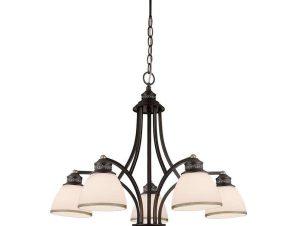 Φωτιστικό Οροφής Clair 4133700 White-BrownViokef