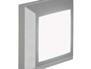 Φωτιστικό Τοίχου-Απλίκα Led Leros Plus 4137900 D125X125 Grey Viokef