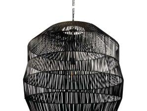 Φωτιστικό Οροφής Rattan 78X78 Black VK/03147/PE/78 VKLed