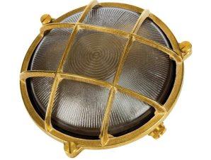 Φωτιστικό Τοίχου Με Πλέγμα D195mm Brass VK/01051/NB VKLed