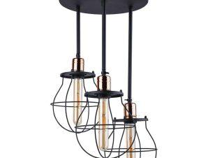 Φωτιστικό Οροφής Manufacture III 9740 Black-Copper Nowodvorski