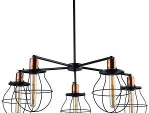 Φωτιστικό Οροφής Manufacture V 9738 Black-Copper Nowodvorski