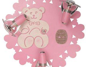 Φωτιστικό Οροφής Παιδικό Honey III 3661 Pink-Ecru Nowodvorski