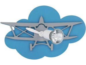 Φωτιστικό Τοίχου Παιδικό Plane I 6902 Blue-Grey Nowodvorski