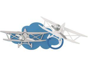 Φωτιστικό Τοίχου Παιδικό Plane II 6903 Blue-Grey Nowodvorski