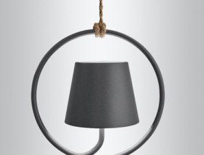 Φωτιστικό Οροφής Επαναφορτιζόμενο Led Polinda Ld0286N3 Ip54 Dark Grey Zafferano