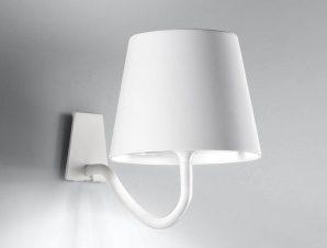 Φωτιστικό Τοίχου-Απλίκα Επαναφορτιζόμενο Led Polinda Ld0288B3 Ip54 White Zafferano