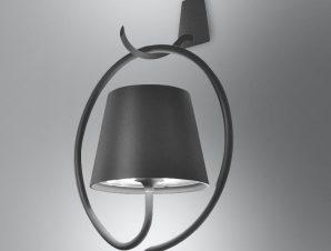 Φωτιστικό Τοίχου Επαναφορτιζόμενο Led Polinda Ld0289N3 Ip54 Dark Grey Zafferano