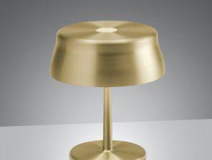 Επιτραπέζιο Φωτιστικό Επαναφορτιζόμενο Led Sister Mini Ld0306O3 Ip65 Gold Zafferano