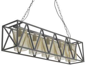 Φωτιστικό Οροφής 3-10-716-0068 Black-Gold 100Χ20Χ23 Inart