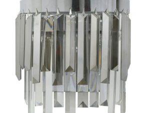 Φωτιστικό Τοίχου – Απλίκα 3-10-917-0060 26Χ13Χ26 Silver-Grey Inart